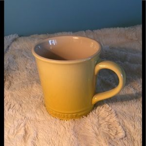 Le Creuset yellow stoneware mug